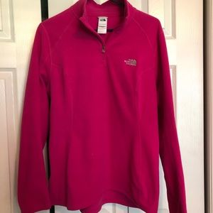 North face quarter zip pull over